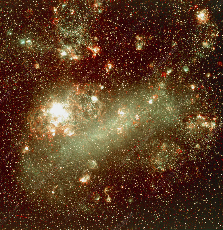 CCD optical image of Large Magellanic Cloud