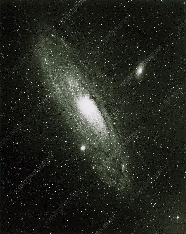 Optical image of spiral galaxyy M31 in Andromeda