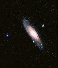 True-colour Palomar image of the Andromeda Galaxy