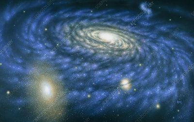 Artwork of the great Andromeda Galaxy