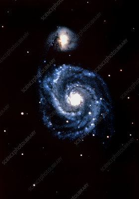 Optical image of the Whirlpool Galaxy, M51