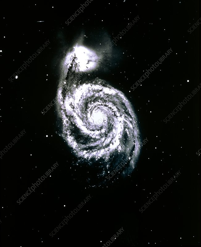 Optical photograph of the Whirlpool Galaxy
