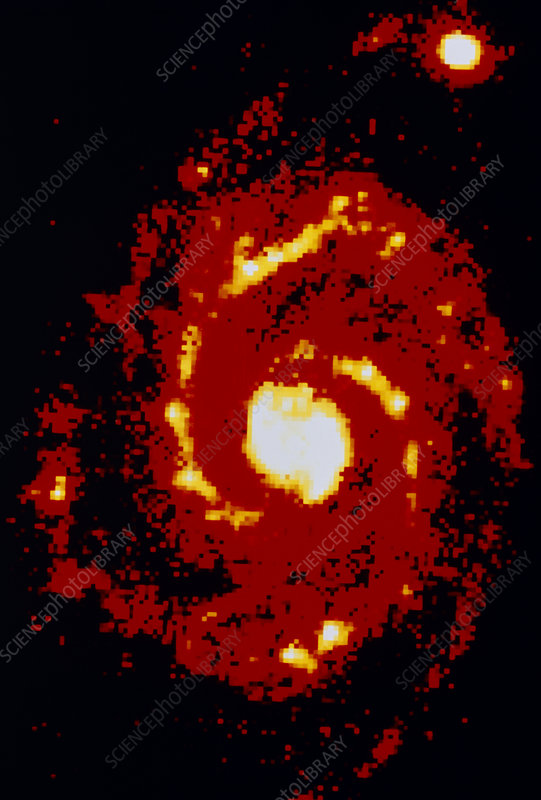 Infrared image of the Whirlpool Galaxy M51