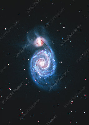 Optical image of the Whirlpool Galaxy (M51)