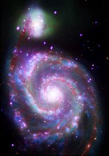 Whirlpool galaxy (M51), composite image
