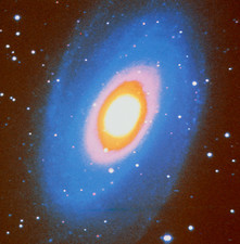 False colour red light image of Galaxy M81