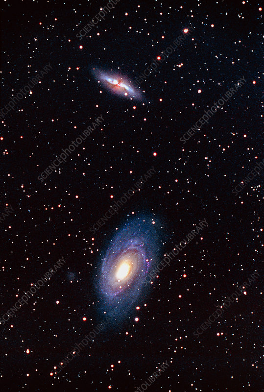 Optical image of the galaxies M81 & M82