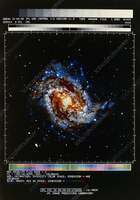 Computer-processed optical image of M83