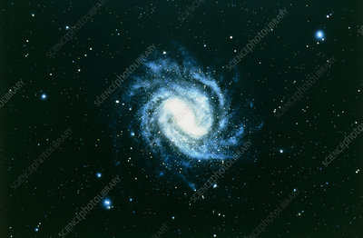 Optical image of spiral galaxy M83