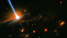 Artist's impression of active galaxy M87