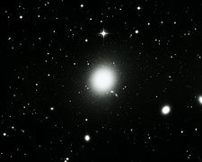 Optical image of the elliptical galaxy M87