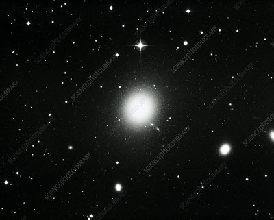 Optical view of the elliptical galaxy M87