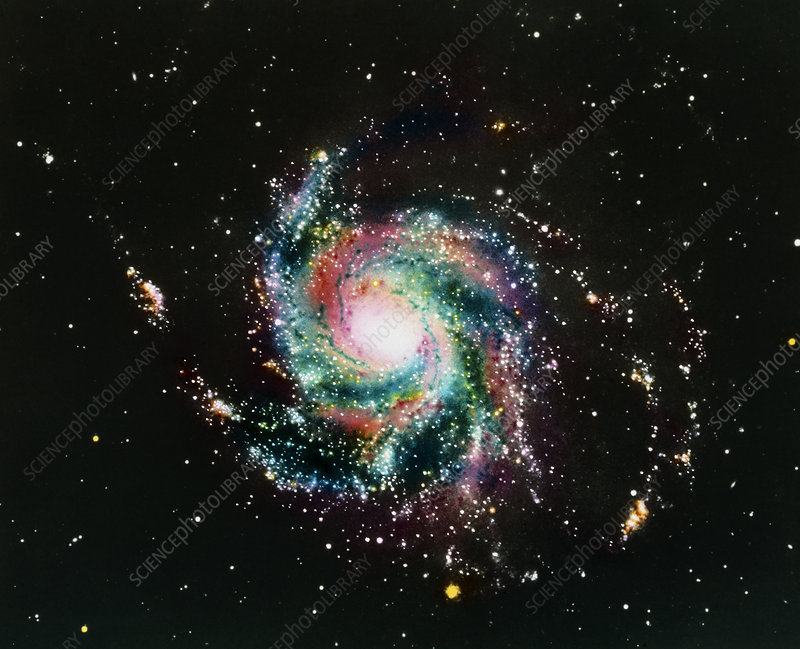 Optical photograph of M101, the Pinwheel Galaxy