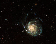 Pinwheel Galaxy, UV and optical image