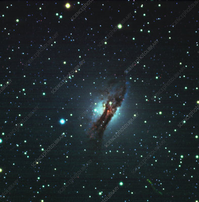 CCD optical image of the Centaurus A radio galaxy
