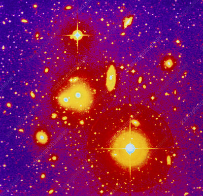 Optical image of the galaxies cluster Abell 1060