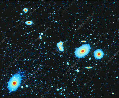 False-colour optical image of the Virgo cluster