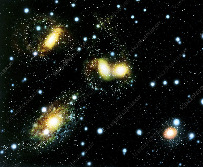 Artwork of the galaxies of Stephan's Quartet
