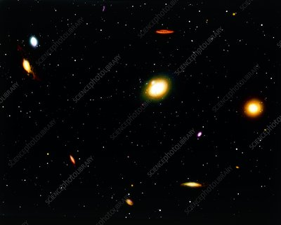 Coloured image of the Virgo Cluster of galaxies