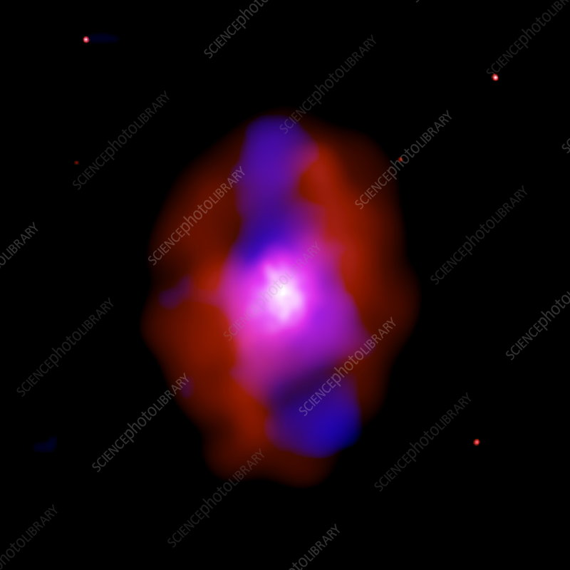 Powerful eruption in a galaxy cluster