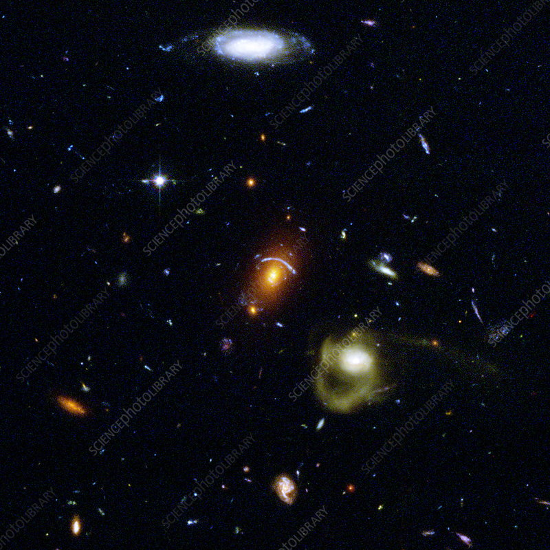 Gravitational lensing between galaxies