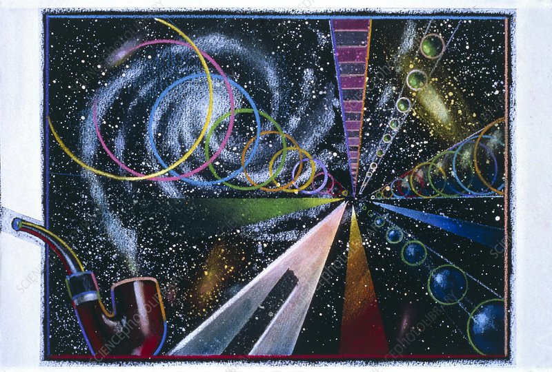Abstract artwork of the origin of the universe