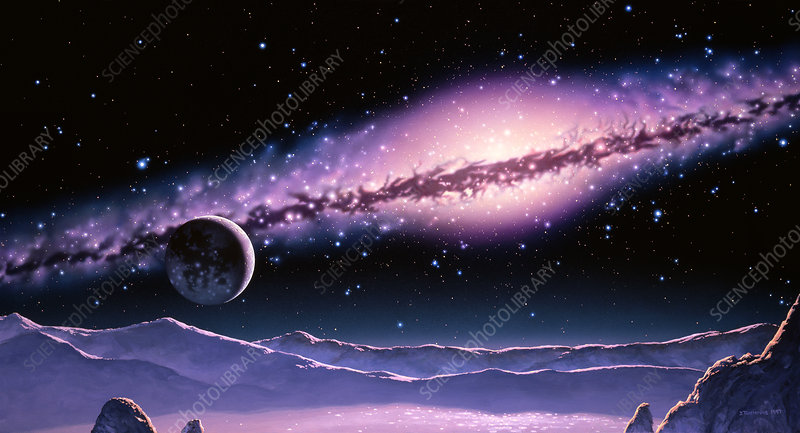 Halo planet - Stock Image R980/0149 - Science Photo Library