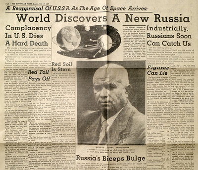 US Newspaper article on Russian space age