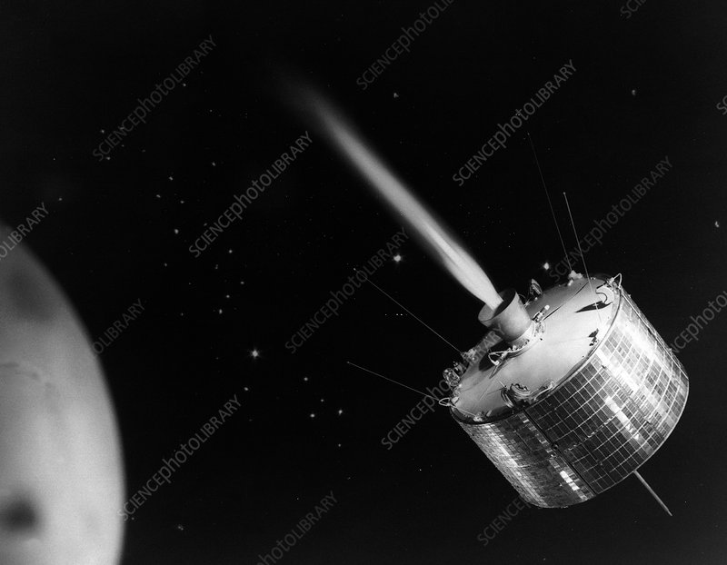 Syncom 2 satellite in orbit