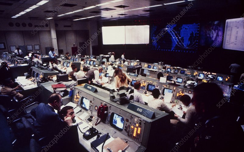 Mission control at Johnson Space Centre