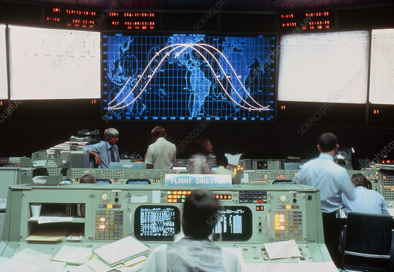 Mission control at NASA'S johnson space centre