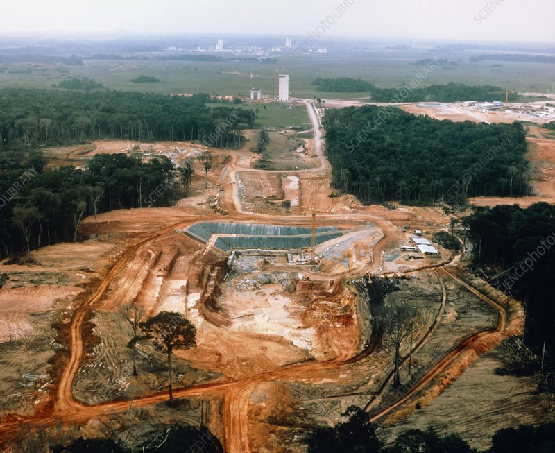 Construction work at the Kourou space centre
