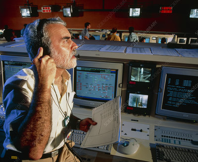 COEL (launch director) of Ariane 5 in control room