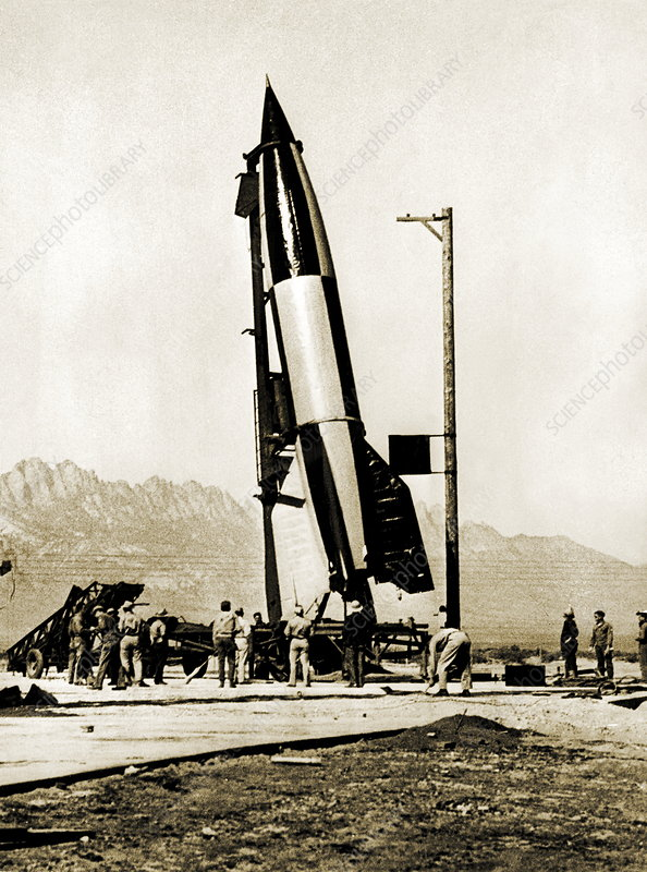V-2 rocket prior to first US launch
