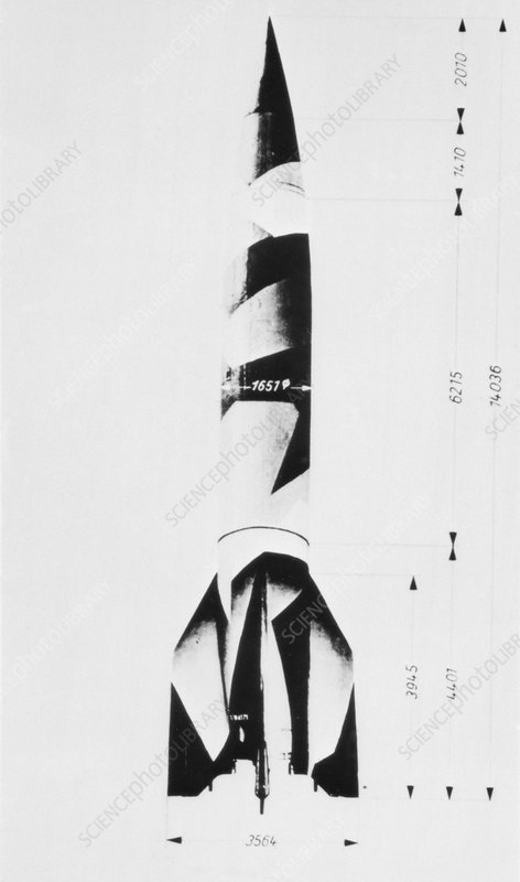 V-2 rocket diagram