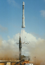 Launch of the European Space Agency rocket