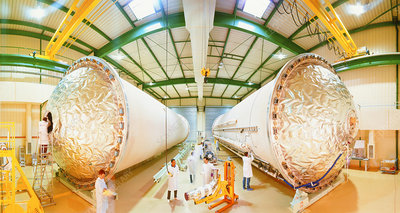 Ariane 5 cryogenic tanks on production line