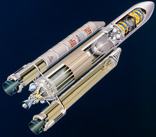 Cut-away view of the Ariane 5 launcher