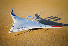 X-48B Blended Wing Body aircraft model