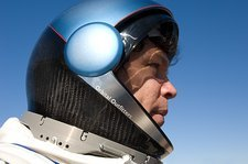 Suborbital space suit helmet