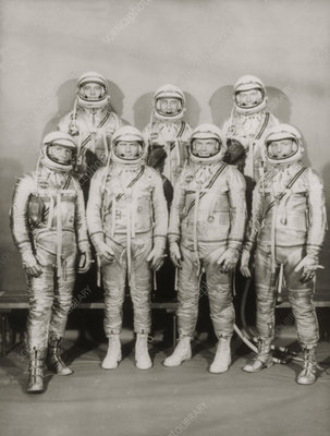 Portrait of the Project Mercury astronauts
