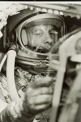 Alan Shepard in Mercury capsule, MR3
