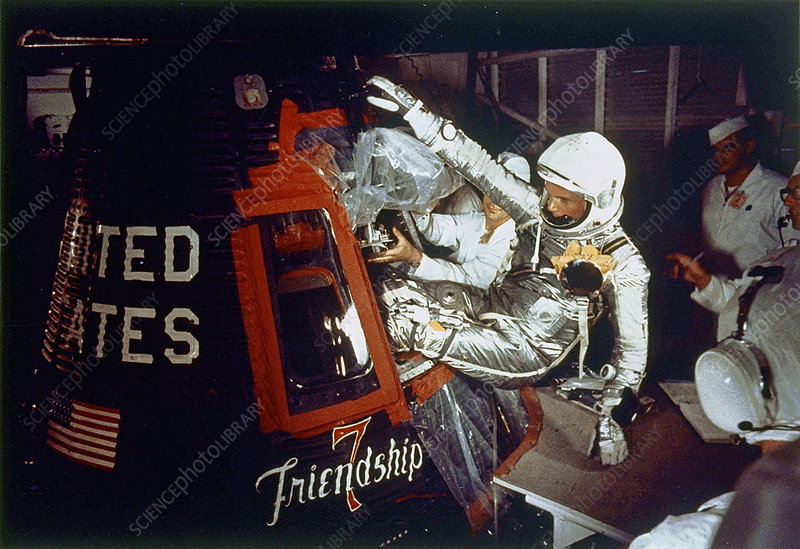 Astronaut John Glenn and Friendship 7