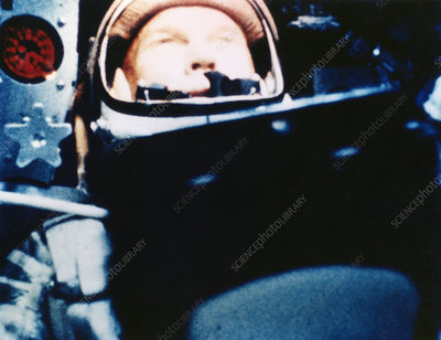 Astronaut John Glenn in Earth orbit