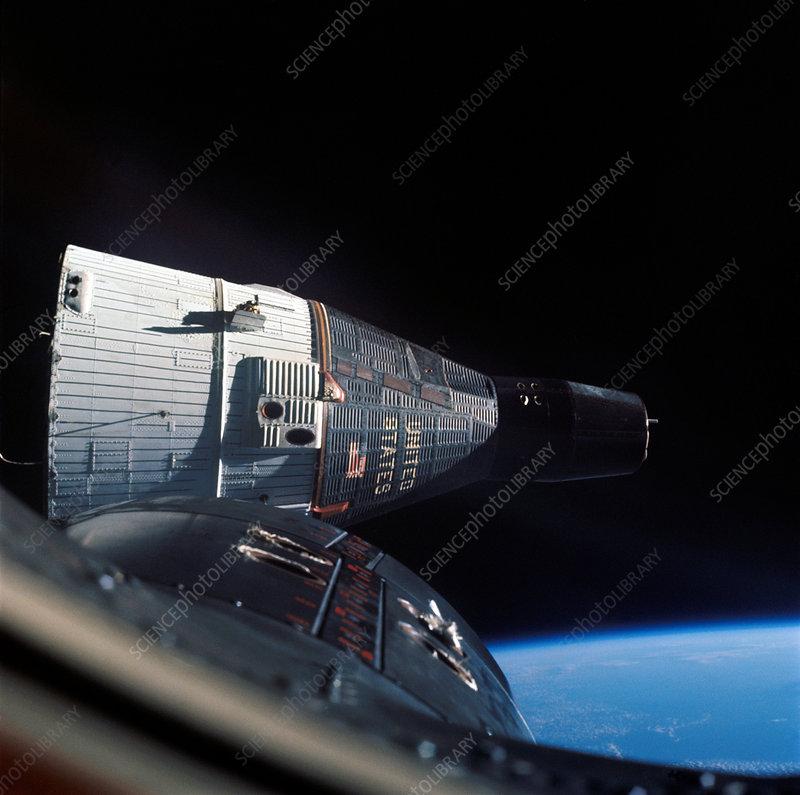 Gemini 7 in orbit