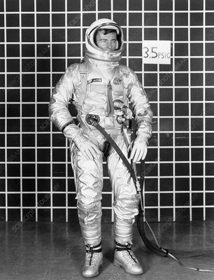 Gemini astronaut John Young in spacesuit