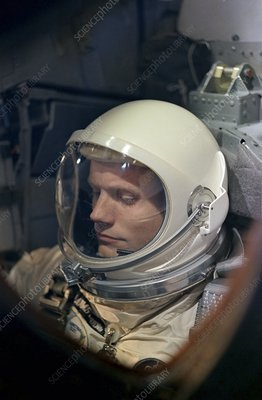 Neil Armstrong in Gemini 8 spacecraft