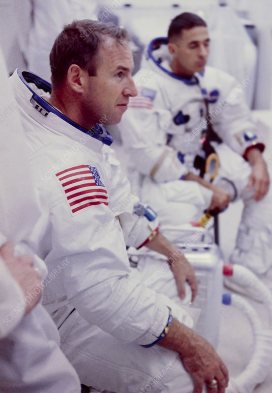 Apollo astronauts Lovell & Anders during training