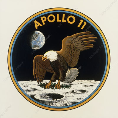 NASA's official emblem for the Apollo 11 mission
