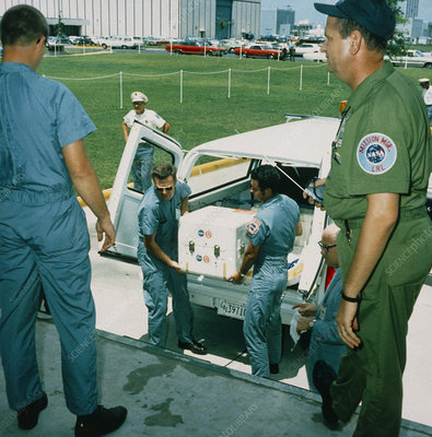 Delivering moon rock from Apollo 11